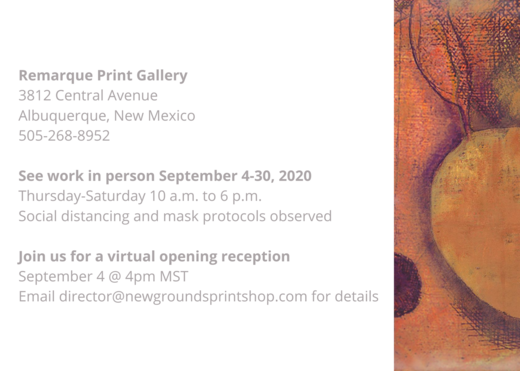 Remarque Print Gallery 3812 Central Avenue Albuquerque, New Mexico 505 268 8952 See work in person September 4 30, 2020Thursday Saturday 10 a.m. to 6 p.m.Social distancing and mask protocols observed Join us for a vi (1)