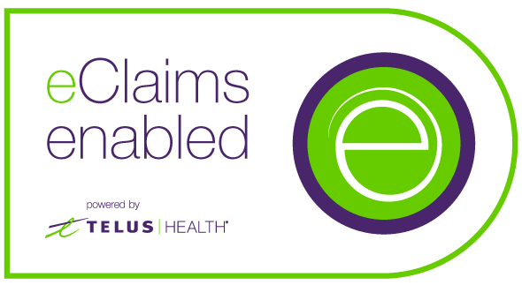eClaim powered by Telus Health badge