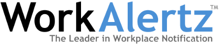 WorkAlertz workplace notification logo