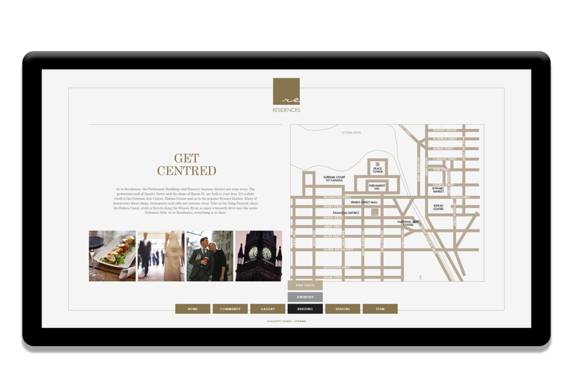 Touchscreen for Ashcroft Homes