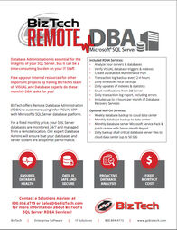 BizTech SQL Server Remote DBA Brochure