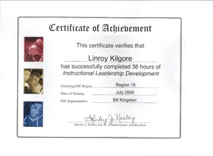 Linroy Kilgore 2019 2020 ILD