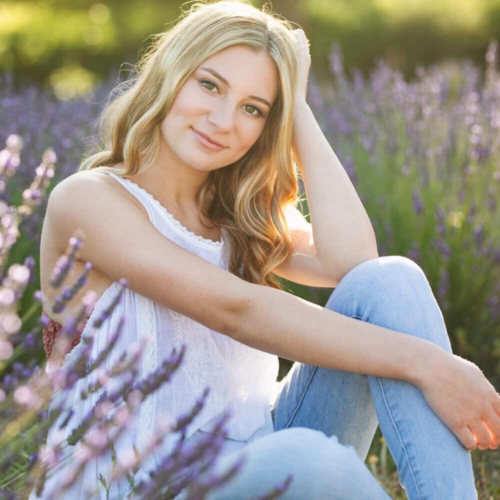 luciakielportraits lavender senior