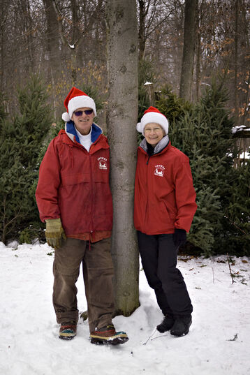 The original owners: Gary and Ruth Thomas at Thomas Tree Farm