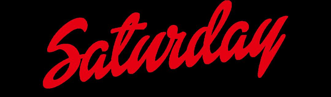 Saturday Logo Design PNG