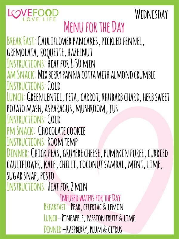 Love Food Go Green Daily Updated Menu