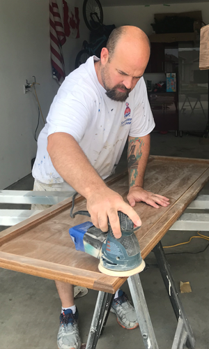 brent sanding cabinets