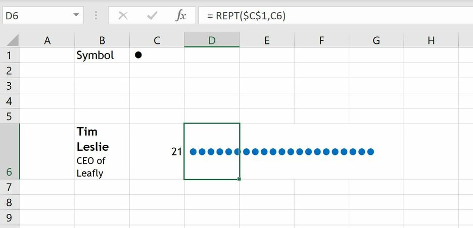 How to create a Unit Chart in Excel 4