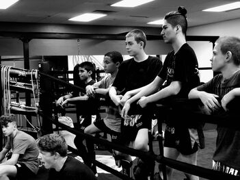Teens martial arts muay thai