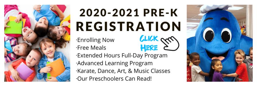 2020 2021 Pre K Registration Email Banner