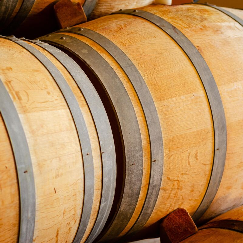 Used and freshly emptied Marsala Casks