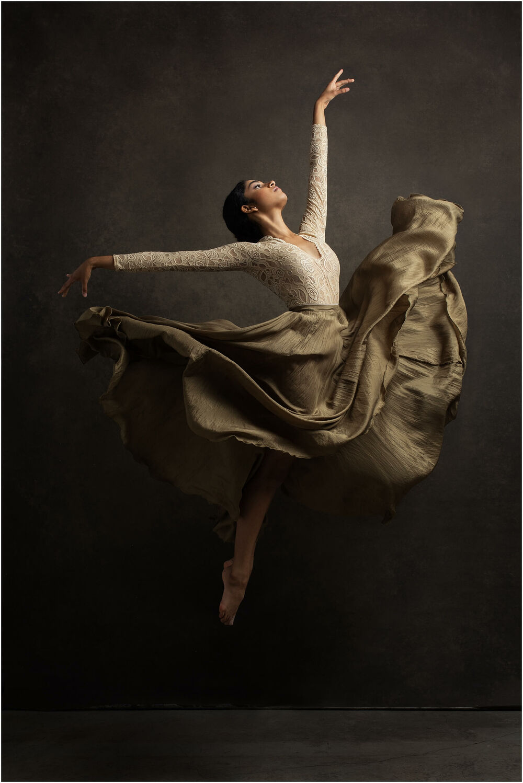 fine art dance portrait of indian ballerina