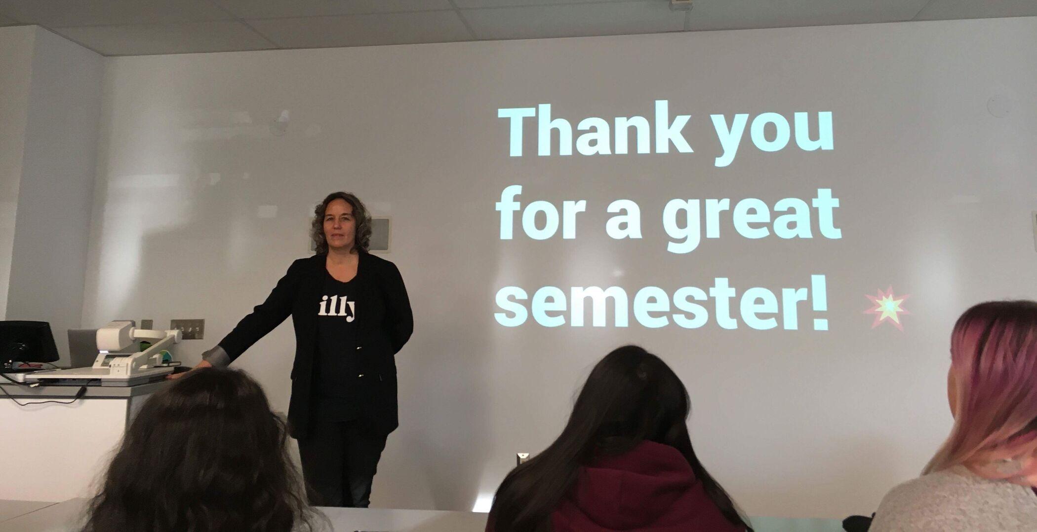 Karin Schmidlin teaching
