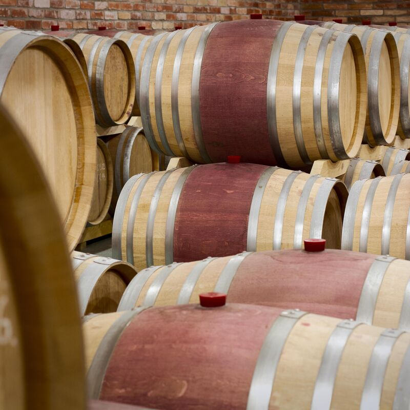 Red Wine Barrel ready to refill