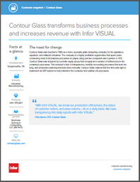 Infor ERP VISUAL Case Study Contour Glass