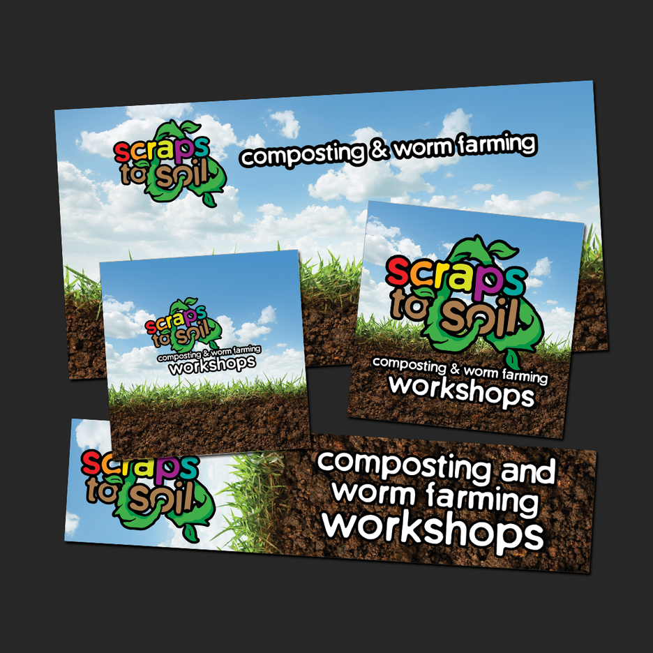 Social Media Campaign Design for the Scraps to Soil Program - Web Banner Design, Social Media Design, EDM Design.
