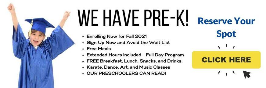 Fall 2021 Pre K Web Banner