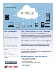 Backup your data with BizTech and MozyPro