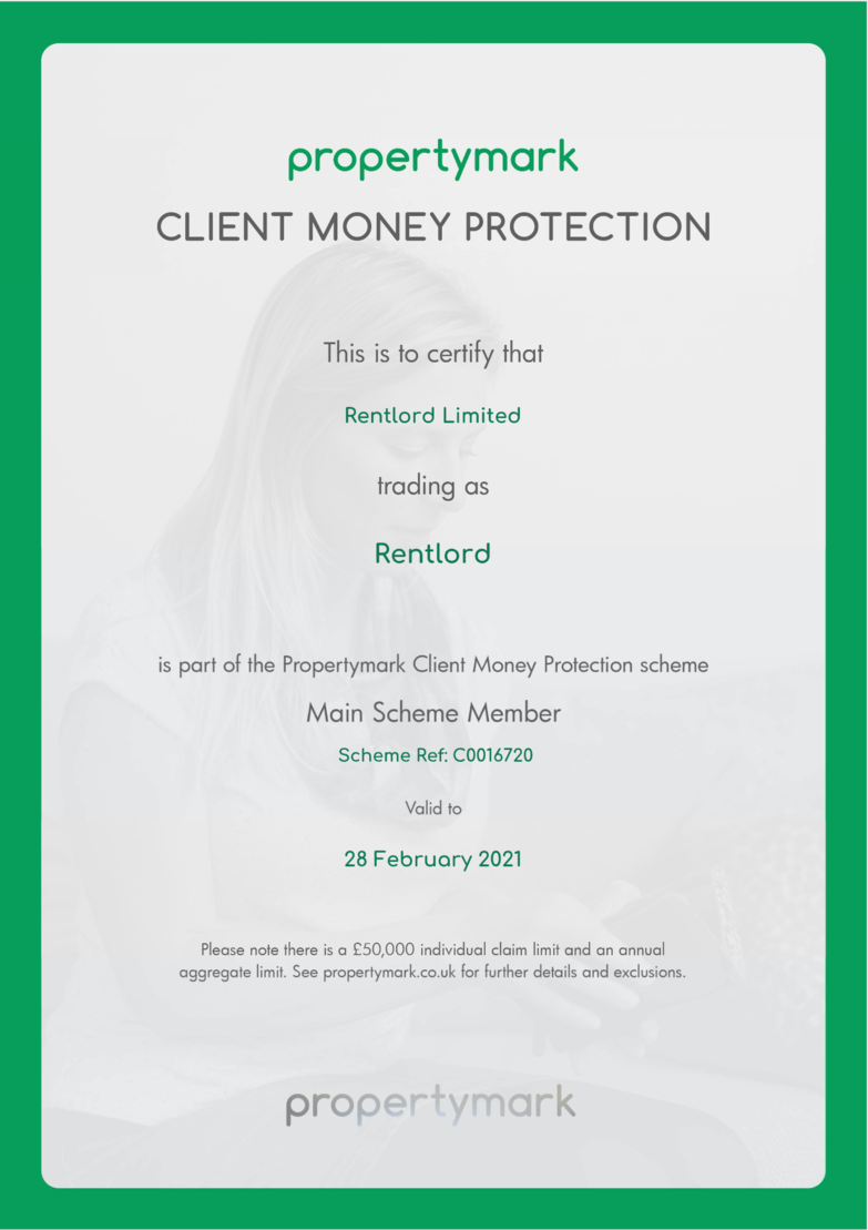 Client Money Protection Rentlord Ltd 2021