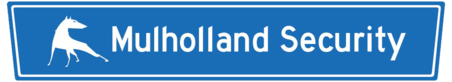 Mulholland Security Logo dog blue sign