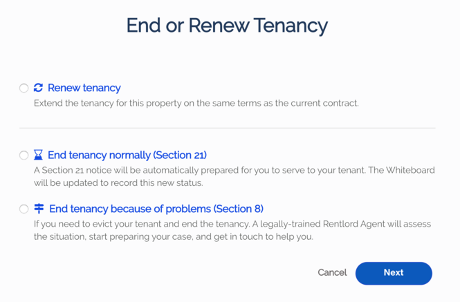 Renew or Section 21 and 8