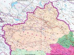 Full Geographic  Map of Xinjiang