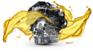 Engine with synthetic oil