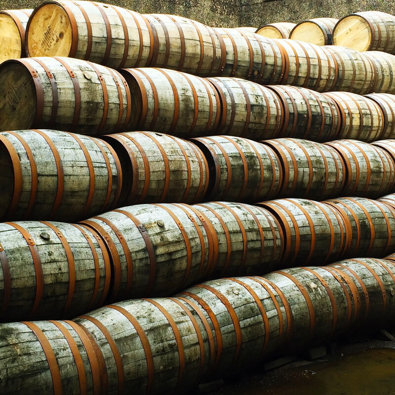 Used and freshly emptied Maple Syrup Casks