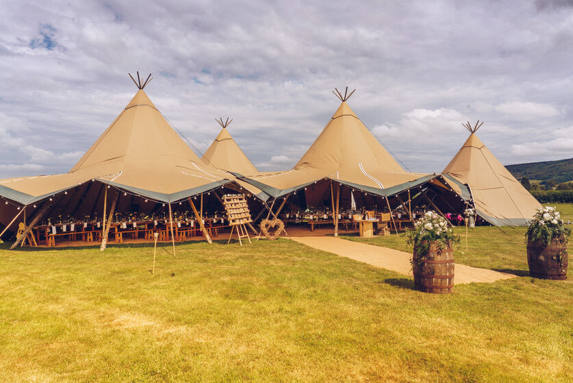 Tipi wedding photo