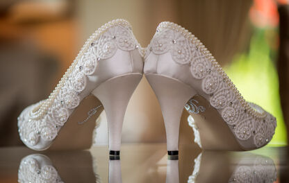 wedding shoes in Coed Y Mwstwr wedding venue bridgend.