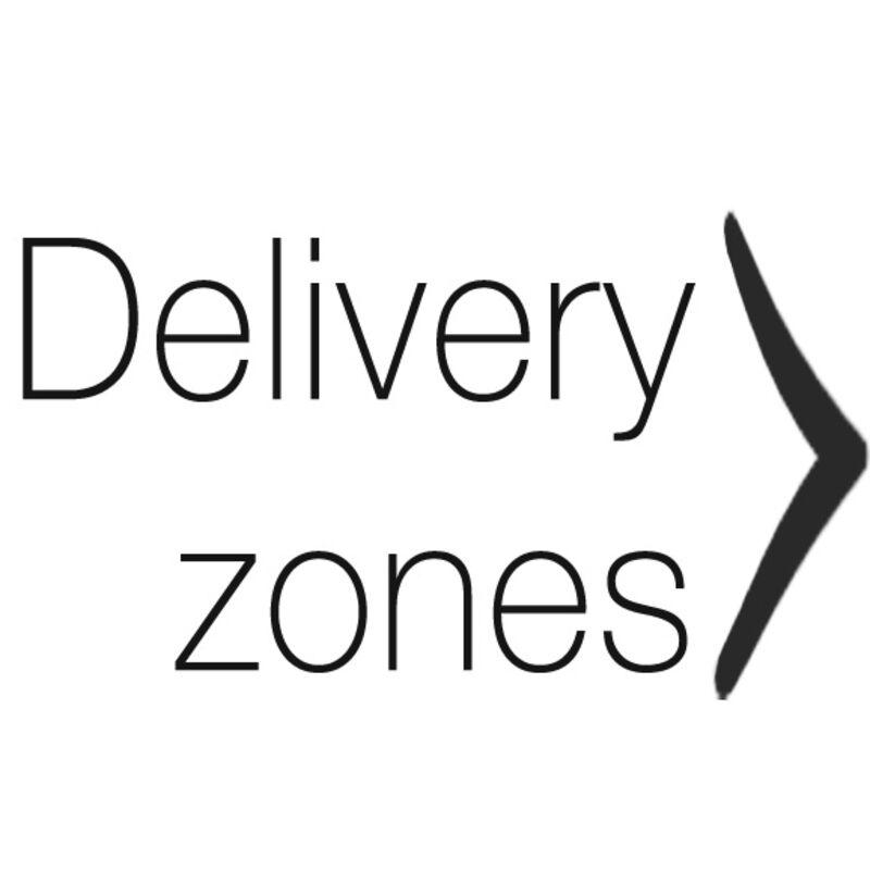 map delivery zones arrow