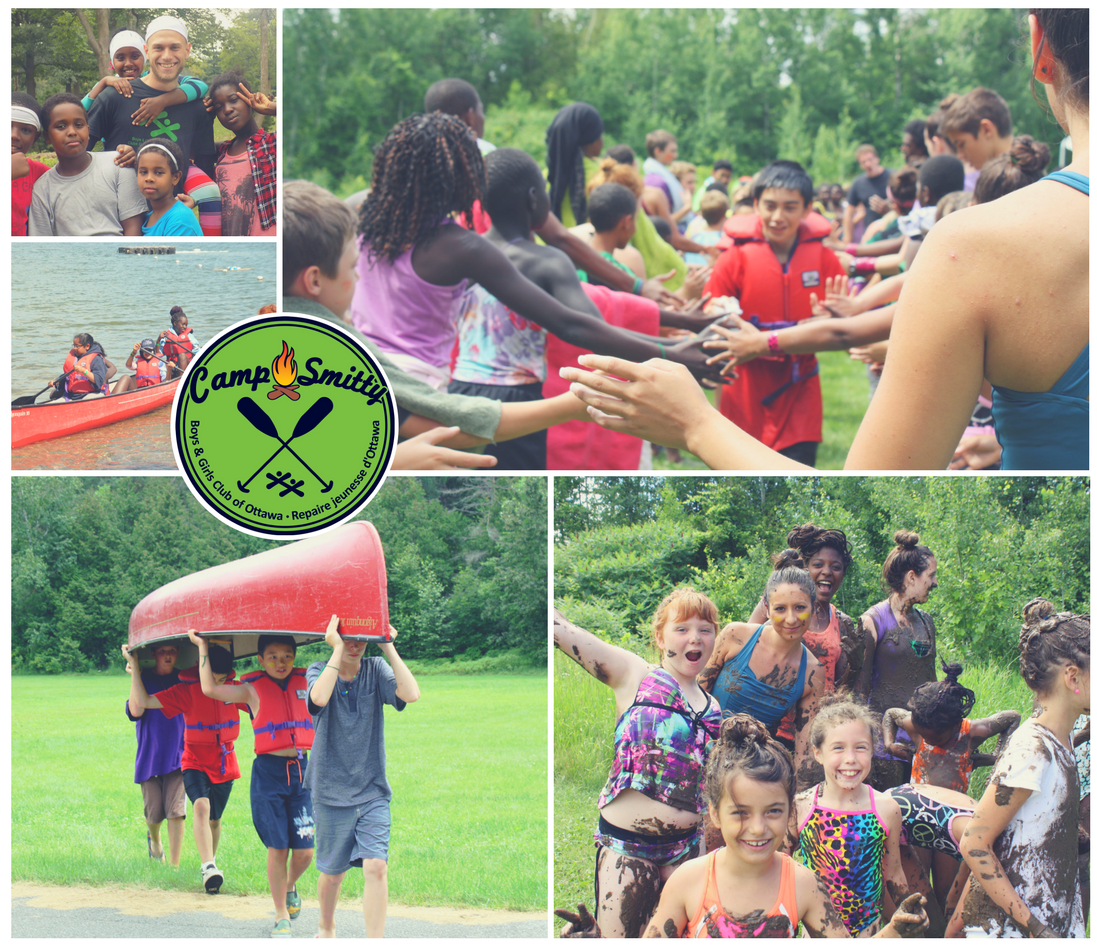 Children, youth, relay race, canoe, mudfight, camp smitty, sleepaway camp, lake, mink lake.