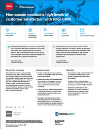 Learn how Infor CRM is helping this company increase customer satisfaction