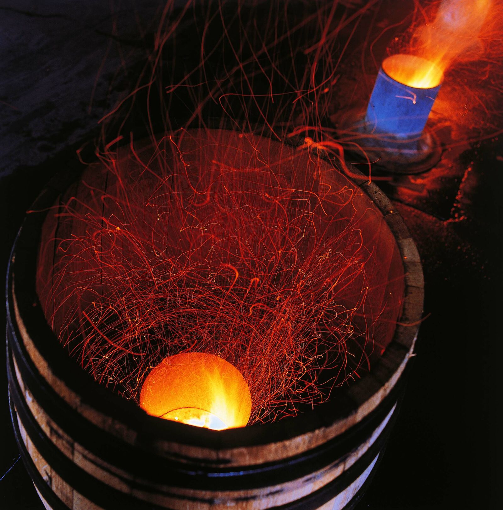 Barrel toasting process