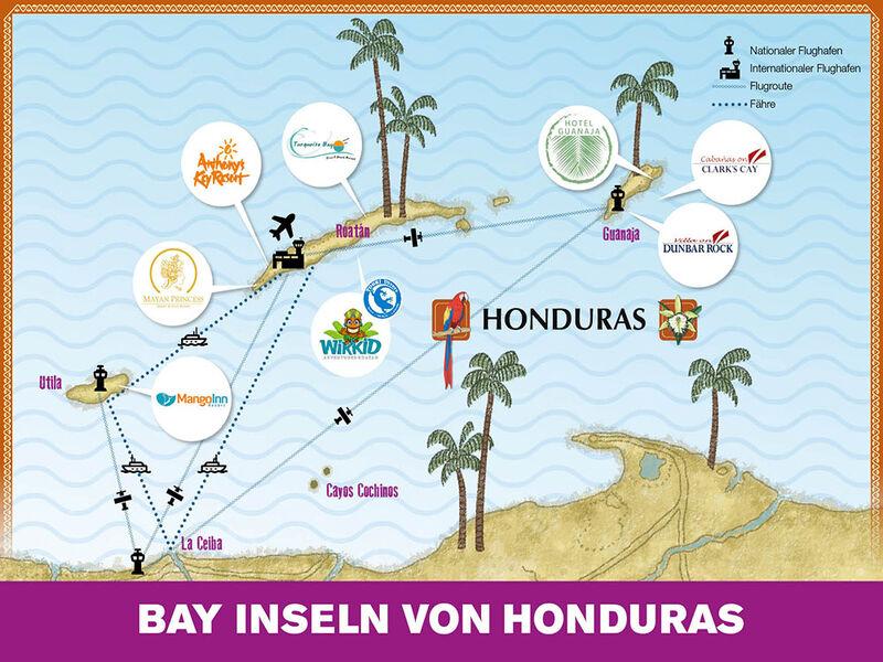 Karte Bay Inseln