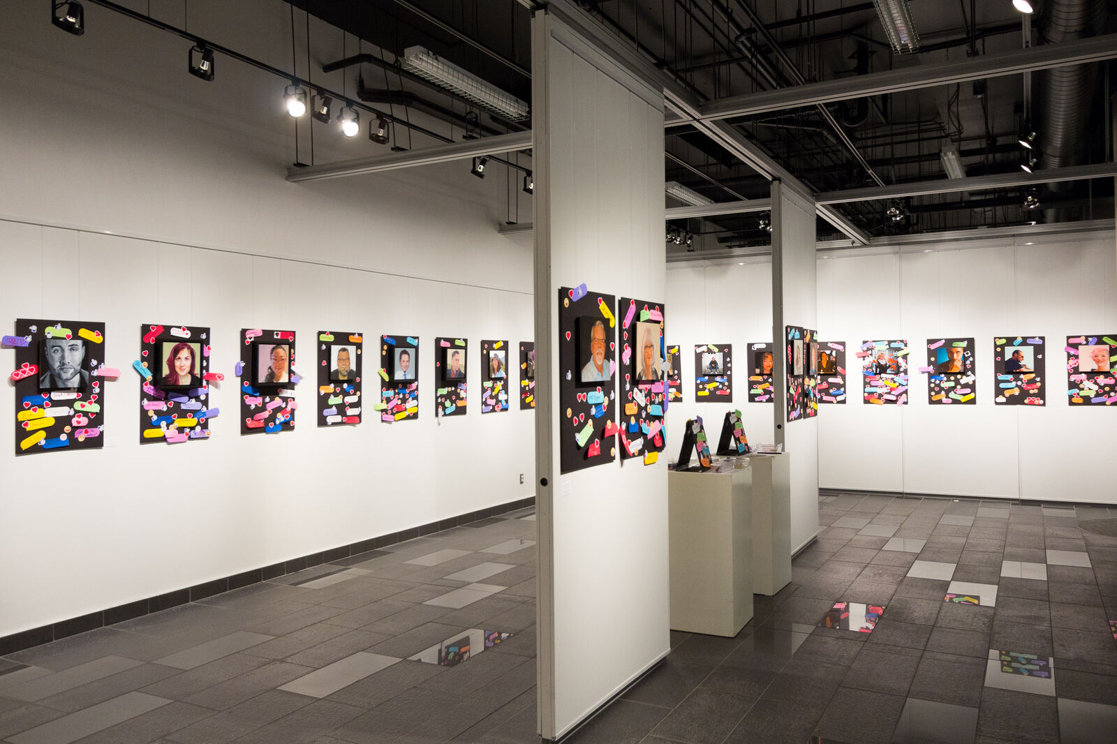 Photo of the Social portraits installation