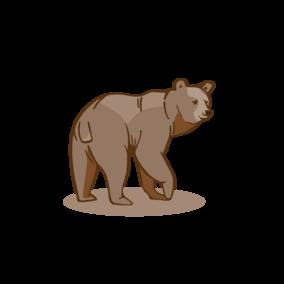 Sponsored bear at the Wild- & Erlebnispark Ferleiten