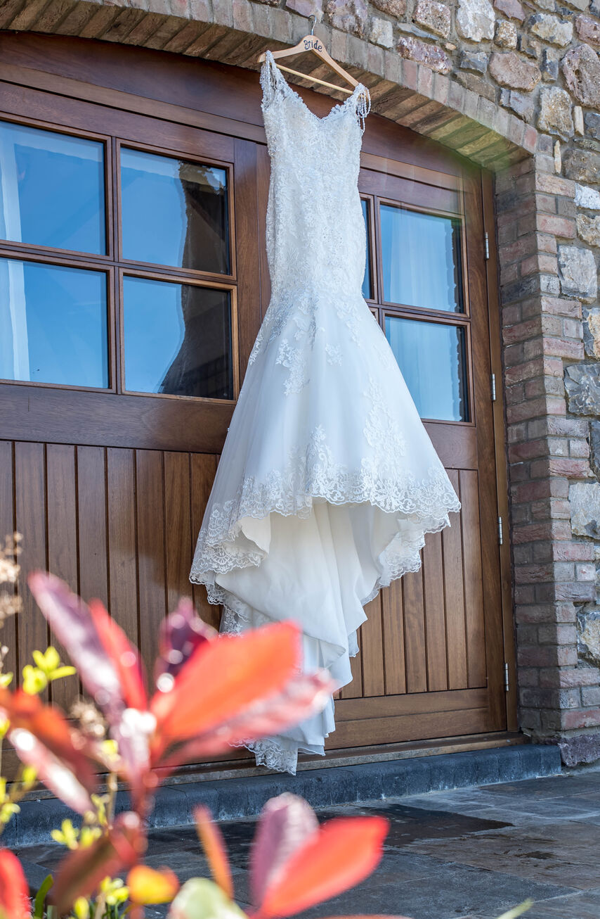 wedding dress at Mulberry House, Oldwalls, Gower
