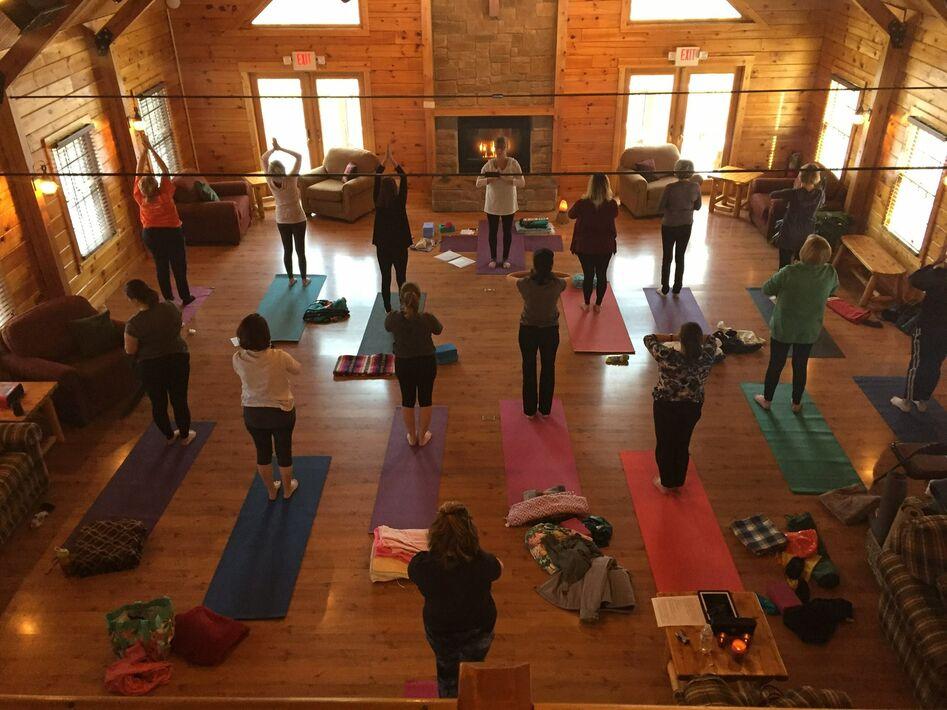 yoga in lodge