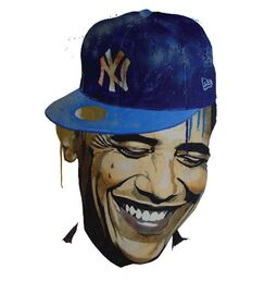 BARACK NY. 2012. Acrylic spray paint on MDF