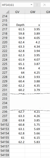 How to create a density scatterplot in Excel 7