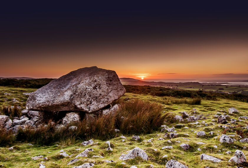Sunset Landscape photography at the King Arthur Stone, Gower, Wales