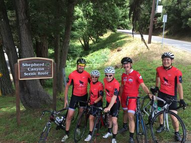 Black Sheep Adventures' guides out on a training ride getting ready for tour season