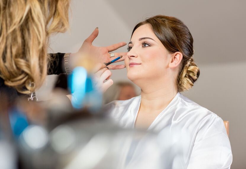 makeup at Towers wedding venue, Swansea