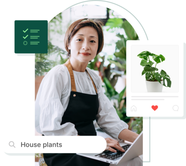 A plant store owner optimizing their site for SEO, social sharing and adding a form.