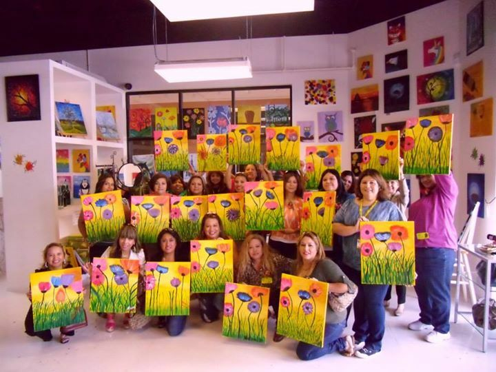 Private Paint Party in our previous paint studio.