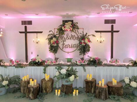Farias Wedding Head Table