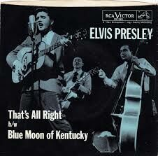 This is the record sleeve of Elvis Presley's first single That's All Right from 1954