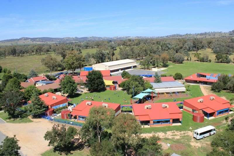 An aerial view of the school - 2010