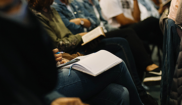 Tuesday Study image - Group of people at a Bible Study